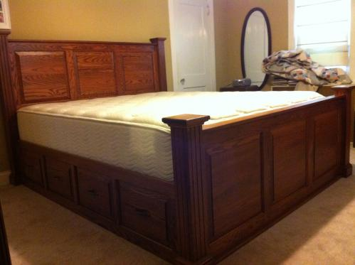 Deluxe Raised Panel Cal King Captains Bed Harolds Shop